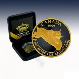 1 Unze Silber Cougar 2015 Gold Black Empire