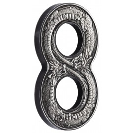 2 Unzen oz Silber Figure Eight Dragon Perth Mint