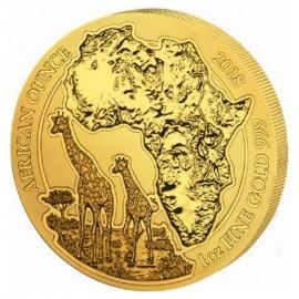 1 Unze Gold Ruanda Giraffe 2018