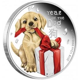 1/2 Unze Silber Baby Hund...