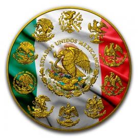 1 Unze Silber Mexiko Libertad 2017 Patriotic Flag Gilded