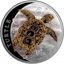 1/2 Unze Fiji Taku Turtle Gilded