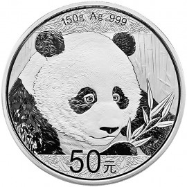 150 g Gramm Silber China Panda 2018 PP BOX