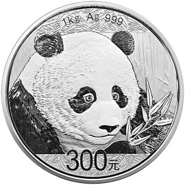 1 kg Kilo Silber China Panda 2018 PP BOX