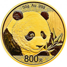 50 g China Panda Goldmünze 2018