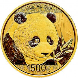 100 g China Panda Goldmünze 2018
