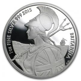 1 Unze Silber Britannia UK 2015   PP Box