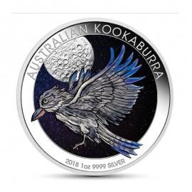 1 Unze Silber Australien Kookaburra 2018 Farbig