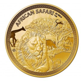 1 Unze Gold African Safari Lion 2018 PP 5000  Francs CFA