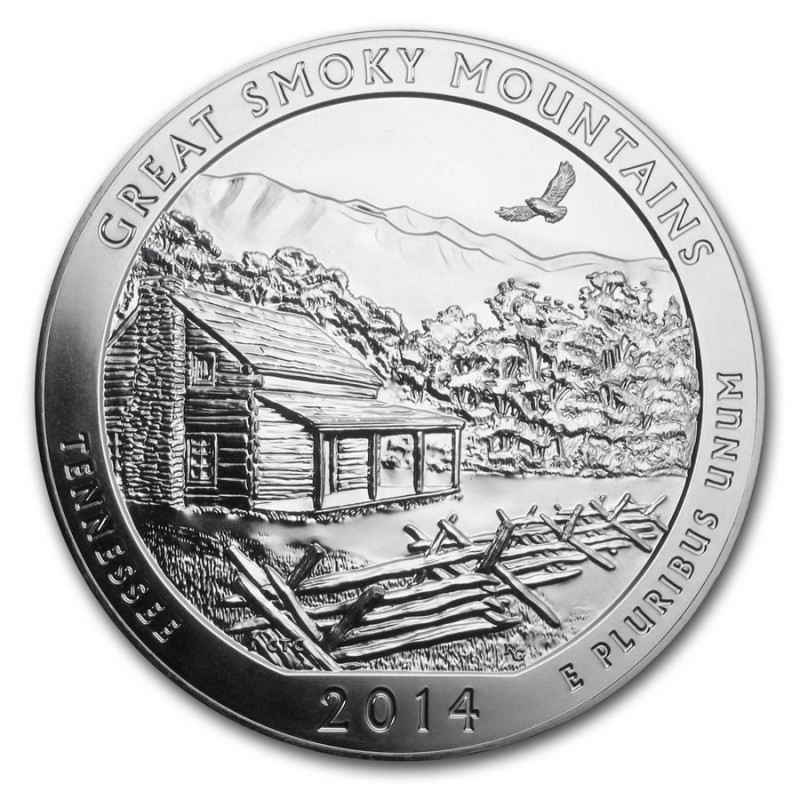 5 Unze Silber America The Beautiful ATB Great Smoky Mountains National Park Tennesee