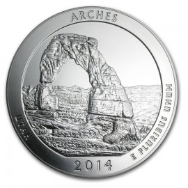 5 Unze Silber America The Beautiful ATB Utah - Arches National Park uncirculated