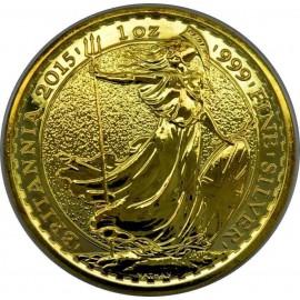 1 oz Britannia UK 2015  24K vergoldet