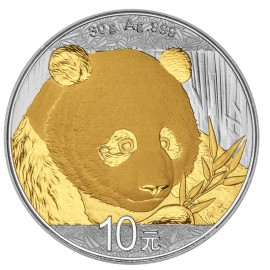 30 g Silber China Panda 2017 Gilded