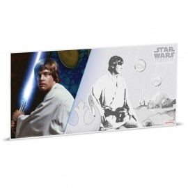 1$ 2018 Niue   5 g Silber STAR WARS™ - LUKE SKYWALKER  MÜNZNOTE - A NEW HOPE