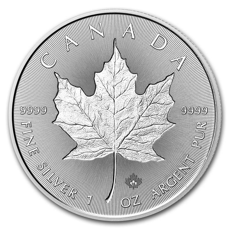 1 Unze Silber 30 Years - 30 Jahre Silver Maple Leaf Incuse Kanada  2018