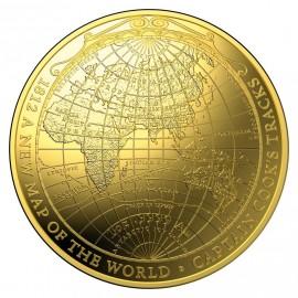 1 oz Unze Gold Weltkarte 1812 Terrestrial Dome Serie  2018  PP
