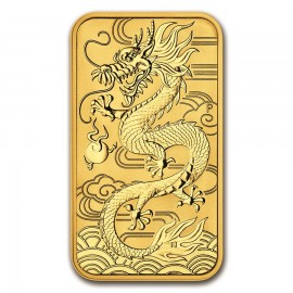 1 oz Unze Gold  Rectangular Dragon Perth Mint 2018