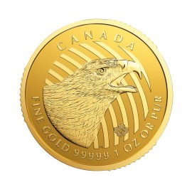 1 oz Gold Call of the Wild 2018  Golden Eagle