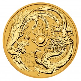 1 oz Gold Dragon & Phoenix