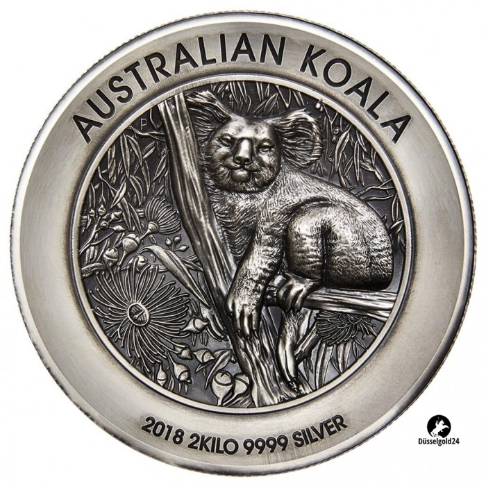 1 Kilo 1kg Silber Silbermünze Koala 2017 Perth Mint