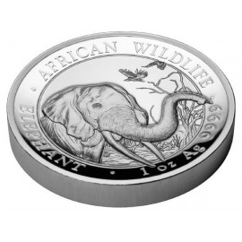 1 Unze Silber Somalia Elefant 2018 High Relief
