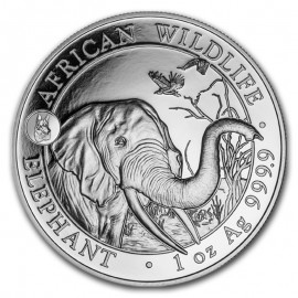 1 oz Silver Somalia Elefant 2018 dog