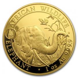 1 oz Unze Gold Somalia Elefant 2017 Privy ANA Denver Skyline