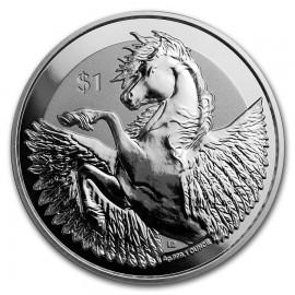 1 Unze Silber Pegasus 2018  British Virgin Islands Reverse frosted