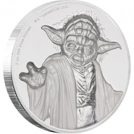 2 Unze oz   Silber  STAR WARS™ - Yoda  PP  Ultra High Relief