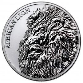 1 Unze Silber African Lion Tschad 2018