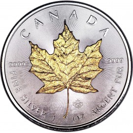 1 Unze Silber Maple Leaf  Gilded