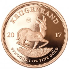 1 Unze Gold Krügerrand 2017  Jubiläum 50 Jahre PP