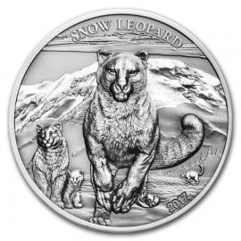1 Unze Silber Mongolei Schneeleopard Snow Leopard High Relief