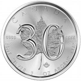 1 Unze Silber 30 Years - 30 Jahre Silver Maple Leaf  Kanada  2018