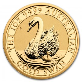 1 oz Unze Gold  Swan Schwan Perth Mint 20178