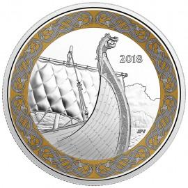 1 Unze Silber Canadian Drachenboot Galliosfiguren  2018