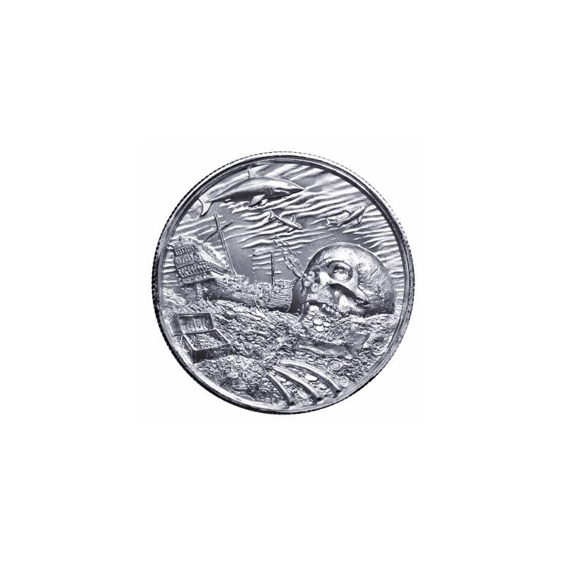 2 Unzen Silber Ultra High Relief  Davy Jones Locker