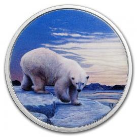 2 Unzen Silber Canada Artic Animals Glow in the dark