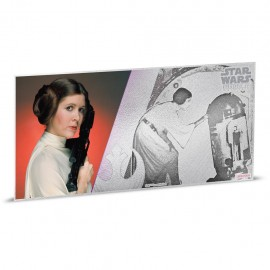 1$ 2018 Niue   5 g Silber STAR WARS™  Leia MÜNZNOTE - A NEW HOPE