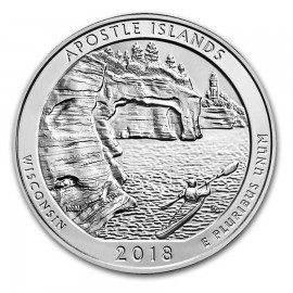 5 Unze Silber America The Beautiful ATB  Apostle Islands National Lakeshore, WI