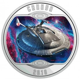 1/2 Unze Silber Canada Enterprise NX-01 Star Trek 2018