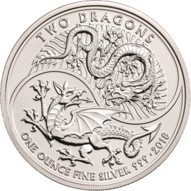1 Unze Silber Great Britain 2018 Two Dragons