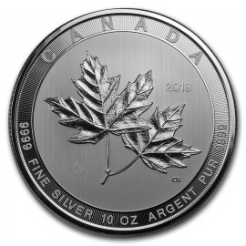 10 Unzen Silber Magnificient Maple Leaf  Canada 50 CAD 2018