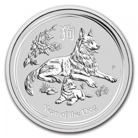 10 kg Silber Lunar II Hund Dog 2018
