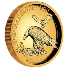 2 oz Unze Gold Wedge-Tailed Eagle High Relief PP mit Box 2018