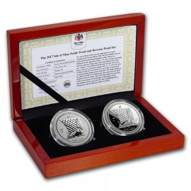 2 x 1 Unze oz Silber Isle of Man Noble 2017 Reverse/Proof