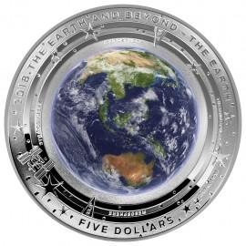 1 Unze Silber EARTH AND BEYOND - ERDE - Konvex