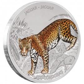 1 Unze Silber JAGUAR Wildlife 1 Oz Silber Münze 100 Cordobas Nicaragua 2018  PP