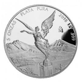 5 Unzen Silber Mexiko Libertad 2018 PP