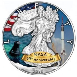 1 Unze Silber American Eagle 2018 Projekt Mercury